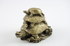 Tree turtles figurine Stock Photos