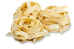 Tree Uncooked Fettuccini Nest Stock Photo