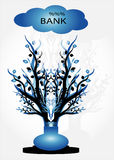 Tree under cloud Royalty Free Stock Images