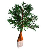 Tree with usb plug Royalty Free Stock Image