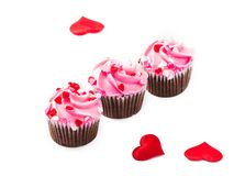 Tree Valentine Day Cupcakes Royalty Free Stock Photos