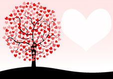 Tree Valentines Day Card Royalty Free Stock Image
