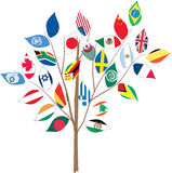 Tree with various flags. Stock Photography