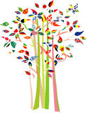 Tree with various flags. Stock Images