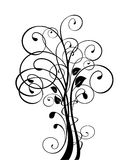 Tree vector. Decoration background vector plant tree leaf ornaments Royalty Free Stock Photos
