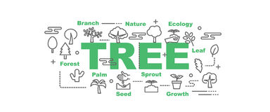 Tree vector banner Stock Images