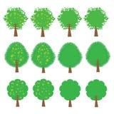 Tree vector cartoon illustration abstract design vector silhouette Stock Photography