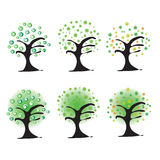 tree vector design cartoon illustration abstract design silhouette Royalty Free Stock Photography