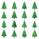 Tree vector set images stock illustration