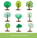 Tree vector icon set Stock Photography