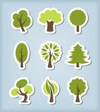 Tree vector icons Royalty Free Stock Photography
