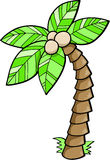 Tree Vector Illustration. Tropical Plam Tree Vector Illustration Stock Image