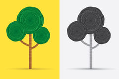 Tree vector. Tree illustration graphic, design using line spin graphic vector Royalty Free Stock Images