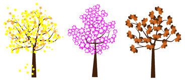 Tree vector. Illustration of tree vector isolated on white background royalty free illustration