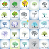 Tree vector illustration logo set Stock Photography