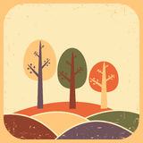 Tree. Vector illustration. In vintage style Stock Images