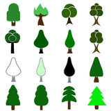 Tree vector set - ecology concept Royalty Free Stock Images