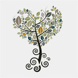 Tree Vector Symbol. With Curled Roots Stock Image