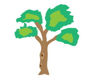 The tree vectors Stock Image