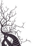 Tree and vines. Illustration drawing of beautiful black tree and vines vector illustration