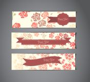 Tree vintage banners Stock Photo
