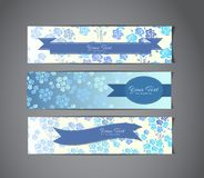 Tree vintage banners Stock Photography