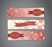 Tree vintage banners Royalty Free Stock Photo