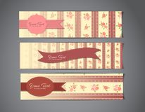 Tree vintage banners Royalty Free Stock Image