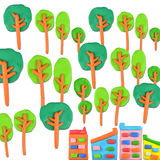 Tree vs building concept Stock Photo