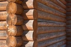 Tree,wall,round,wood, house,forest stock photography
