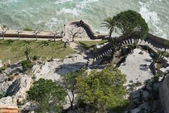 Tree, Water, Rock, Landscape royalty free stock image