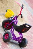 Tree wheel bike. Three wheel bike on the playground Royalty Free Stock Photo
