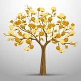 A tree from which gold coins grow. Stock Photography