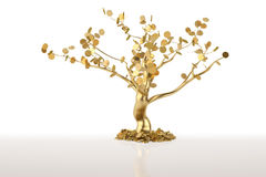 A tree on a white background.3D illustration. Royalty Free Stock Photos
