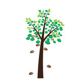 Tree on white background. Vector Royalty Free Stock Photos