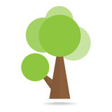 Tree on white background. Vector illustration Royalty Free Stock Photography