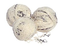 A tree white ball of yarn Royalty Free Stock Image