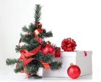 Tree and white box Stock Photos