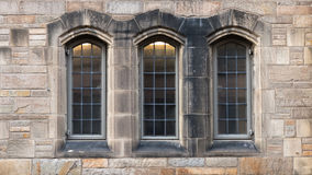 Tree windows in  Neo-Gothic Royalty Free Stock Photography