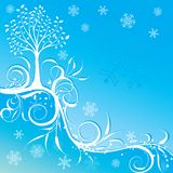 Tree winter background, vector Stock Photography