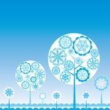 Tree winter background, vector Royalty Free Stock Image