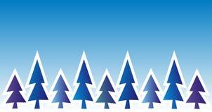 Tree, winter landscape, background Stock Photography