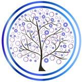 Tree winter snowflakes. Bubbles icon Stock Photography