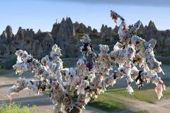 Tree Of Wishes in Cappadocia, Turkey Royalty Free Stock Image