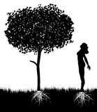 Tree and woman Stock Photos