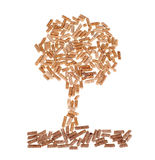 Tree of wood pellet Royalty Free Stock Photography