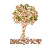 Tree of wood pellet Stock Image