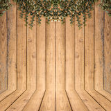 Tree on Wood planks texture background Royalty Free Stock Images