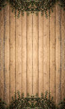 Tree on Wood planks texture background wallpaper Royalty Free Stock Photo