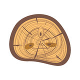 Tree wood slices vector. Royalty Free Stock Photos